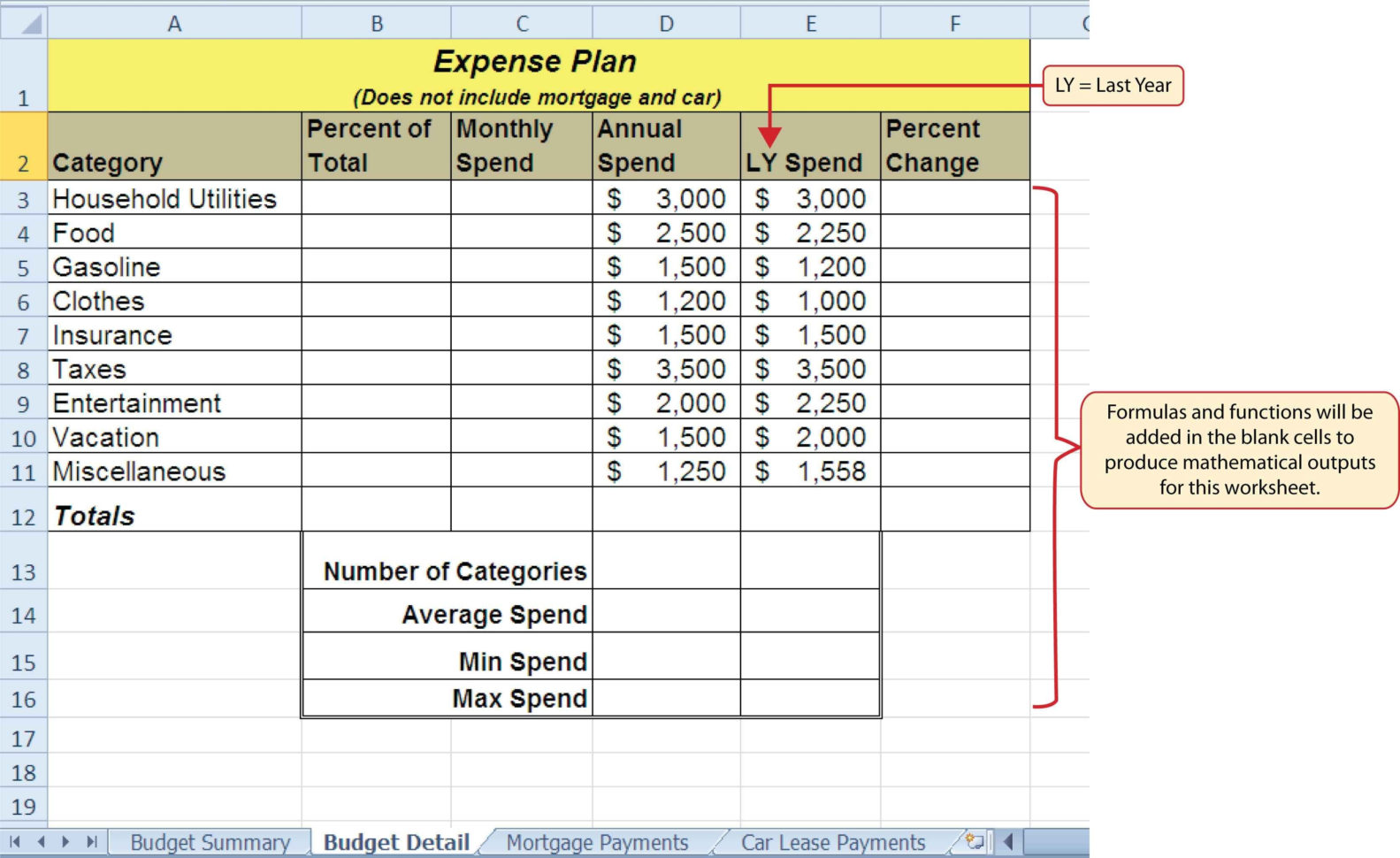spreadsheet modelling examples payment spreadshee