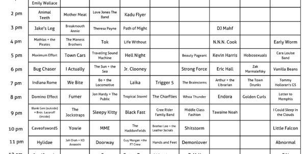 Spreadsheet Music Regarding Updated 6/19/15] The 2015 Rft Music Showcase: We Made You A