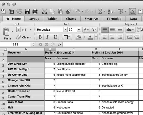 Spreadsheet Music With Regard To Spreadsheet Dressage  Dressage Training Tv