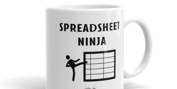 Spreadsheet Ninja Mug Intended For Spreadsheet Ninja Funny Accountant Mug  Etsy