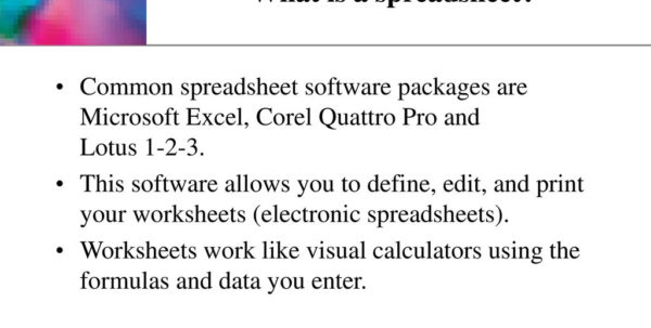 Spreadsheet Packages Intended For Making Spreadsheets And Presentations  Ppt Download