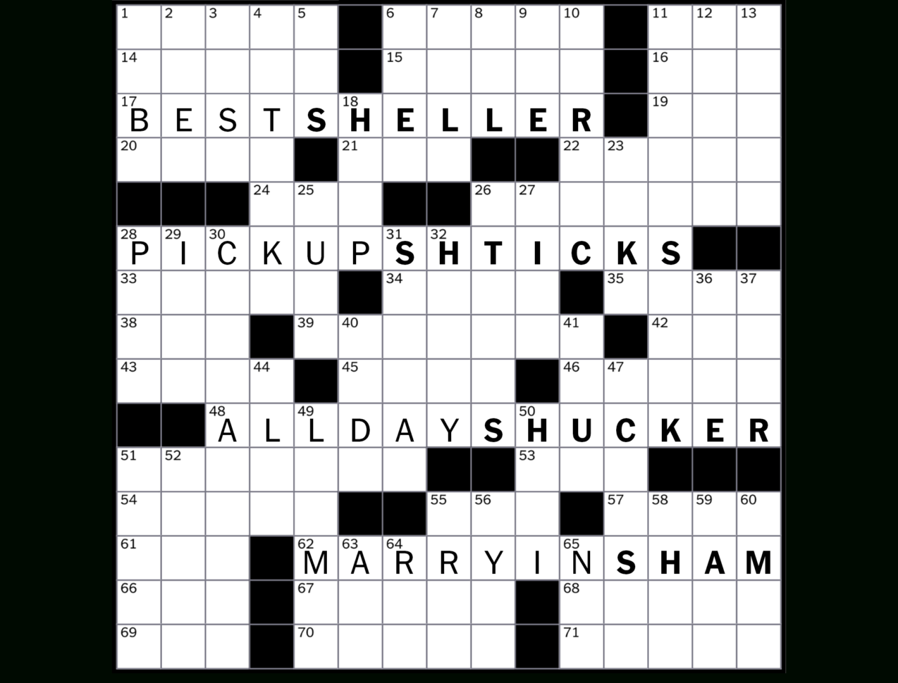 Spreadsheet Part Crossword Inside How To Solve The New York Times Crossword  Crossword Guides  The