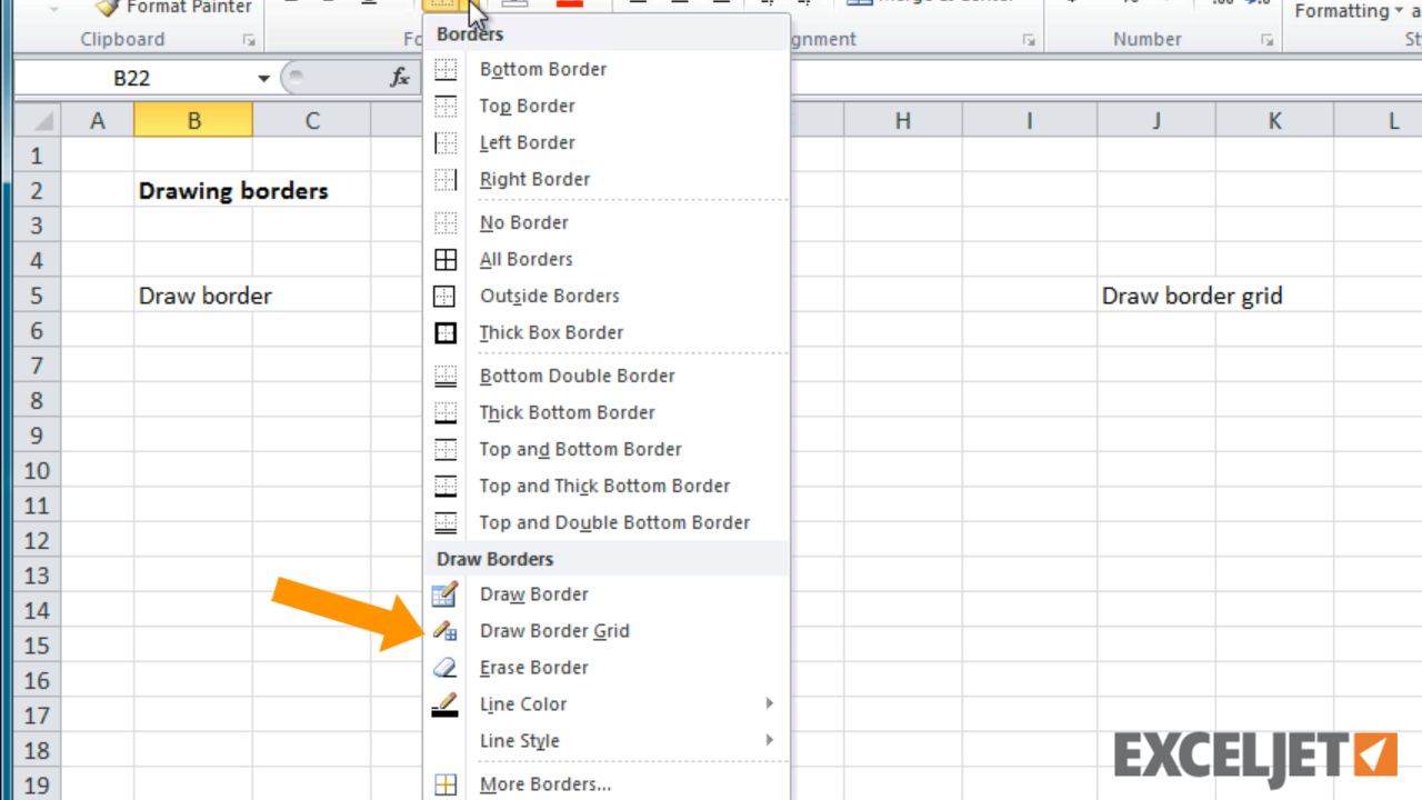 Spreadsheet Quick Draw With Regard To Excel Tutorial: How To Draw Borders And Border Grids In Excel