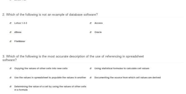 Spreadsheet Quiz For Quiz  Worksheet  Types Of Database  Spreadsheet Software  Study
