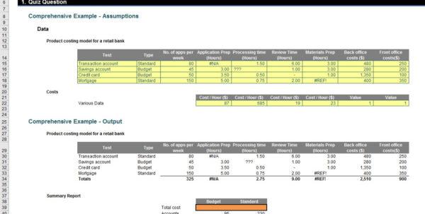 Spreadsheet Quiz Intended For Cima  Spreadsheet Skills: Annual Quiz Suggested Solution Spreadsheet Quiz Google Spreadsheet