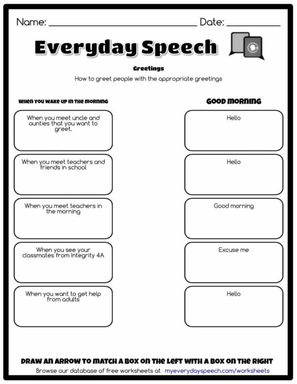Spreadsheet Quiz Pertaining To Greetings In Spanish Worksheet And Farewells English Worksheets Pdf