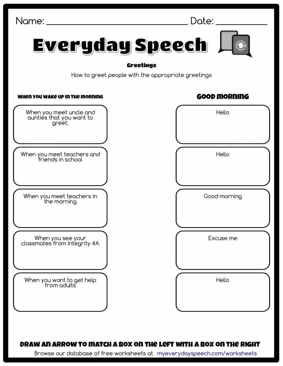 Spreadsheet Quiz Pertaining To Greetings In Spanish Worksheet And Farewells English Worksheets Pdf