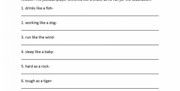 Spreadsheet Quiz Regarding Fishing For Figurative Language Worksheet Answers Awesome Quiz