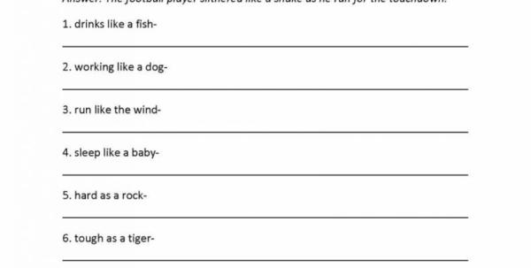 Spreadsheet Quiz Regarding Fishing For Figurative Language Worksheet Answers Awesome Quiz