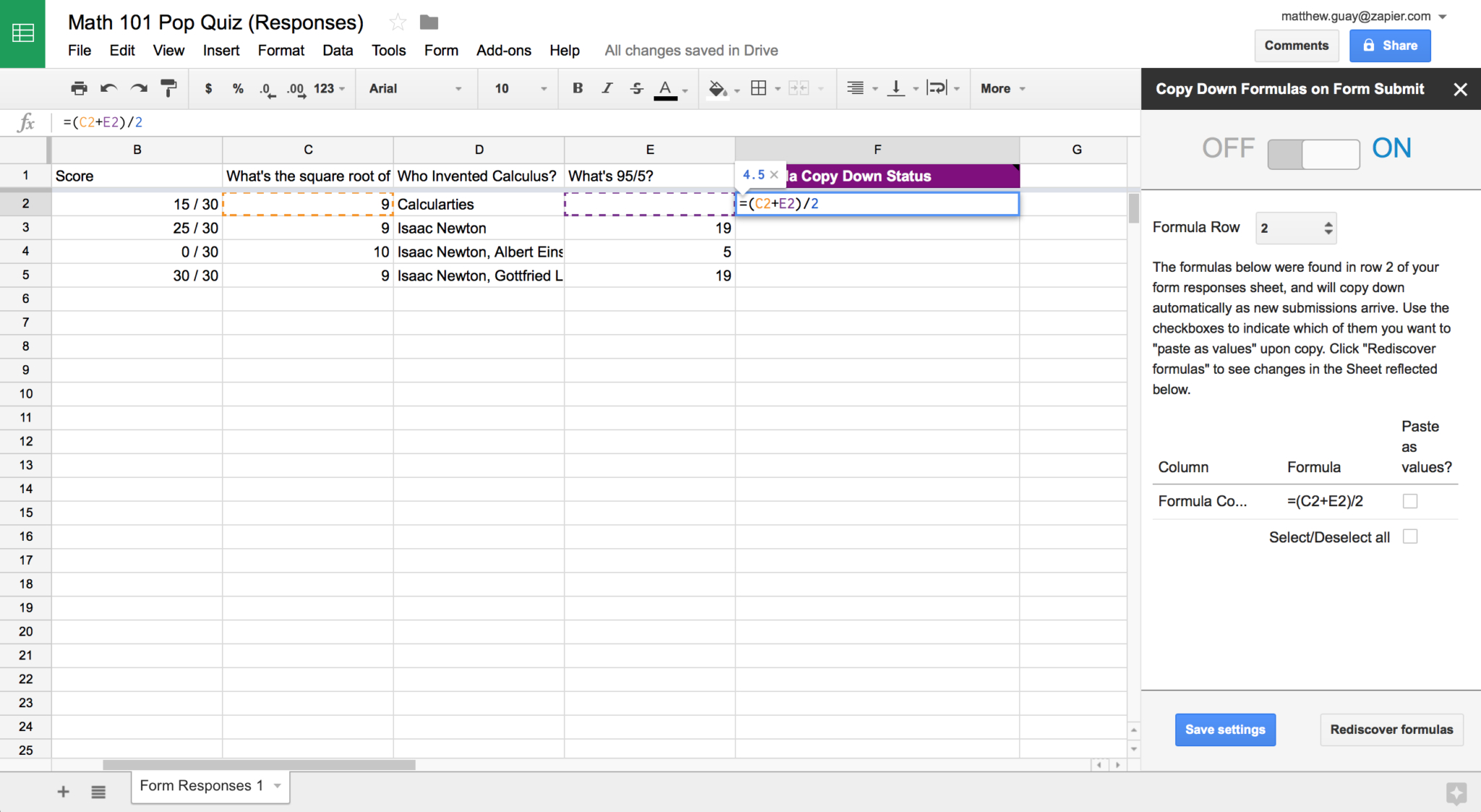 Spreadsheet Quiz Throughout A Beginner's Guide To Google Spreadsheet Formulas