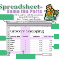 Spreadsheet Quiz Within Techystallions [Licensed For Noncommercial Use Only] / Parts Of A