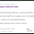 Spreadsheet Server Cost In Insightsoftware Techfact: Retail Enjoys Reduced Costs  Techvalidate