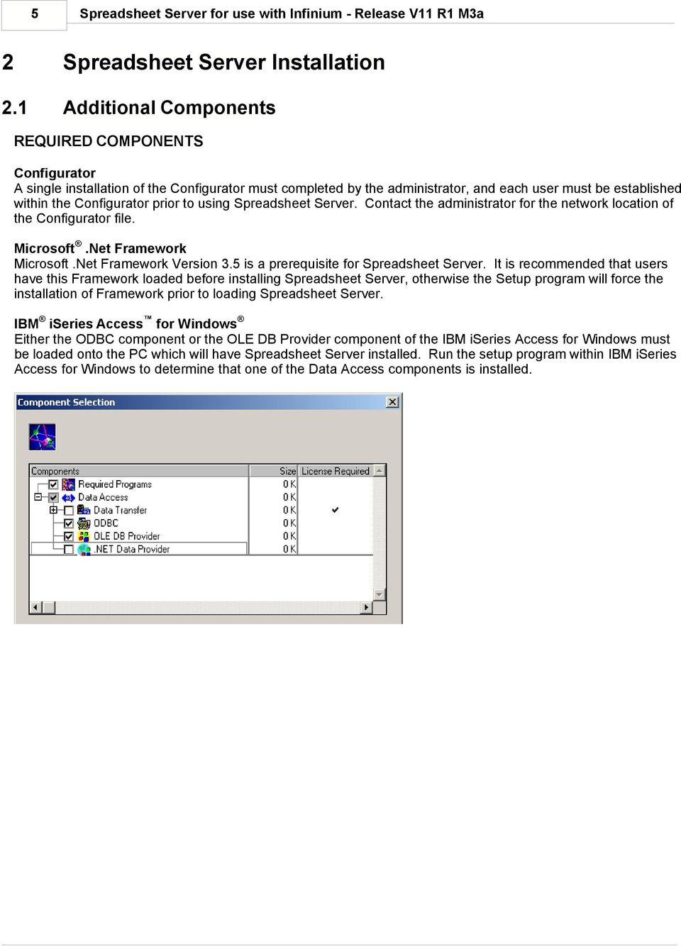 Spreadsheet Server Installation For Global Software, Inc.'s Spreadsheet Server For Use With Infinium