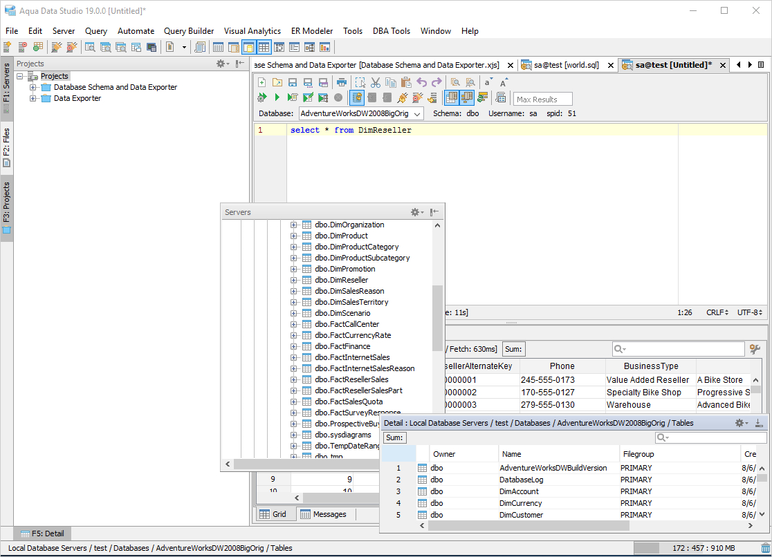 Spreadsheet Server Query Designer In Aqua Data Studio: Database Ide For Developers, Dbas, And Analysts