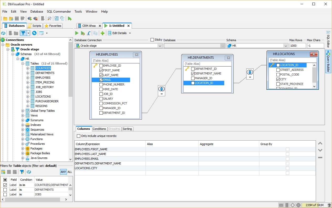Spreadsheet Server Query Designer With Regard To Sql Query Builder  Dbvisualizer