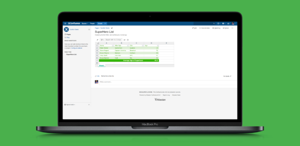 Spreadsheet Server Support Throughout Excellentable Spreadsheet For Confluence  Atlassian Marketplace