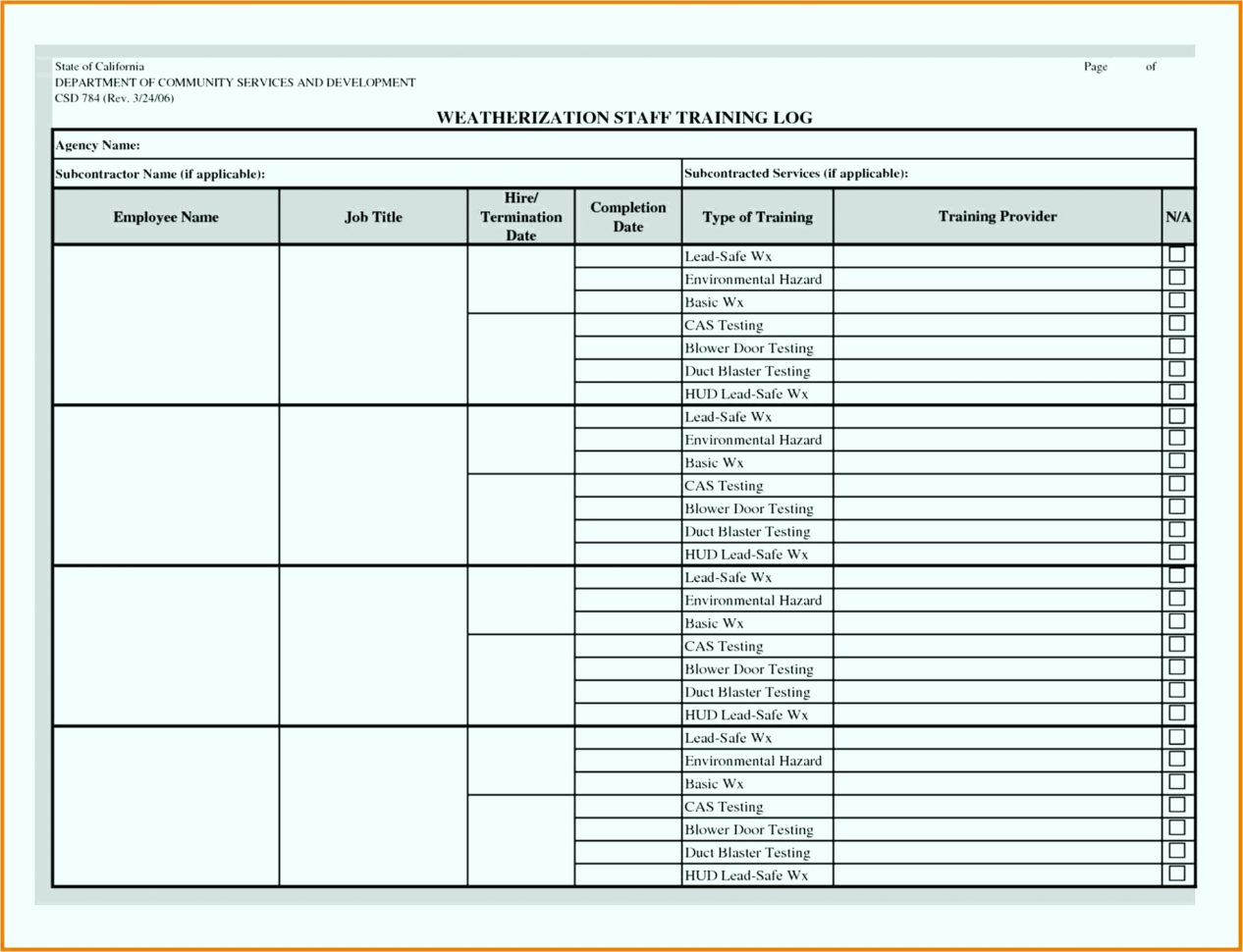 Spreadsheet Server Training With Excel Spreadsheet To Track Employee Training. Excel Spreadsheet To