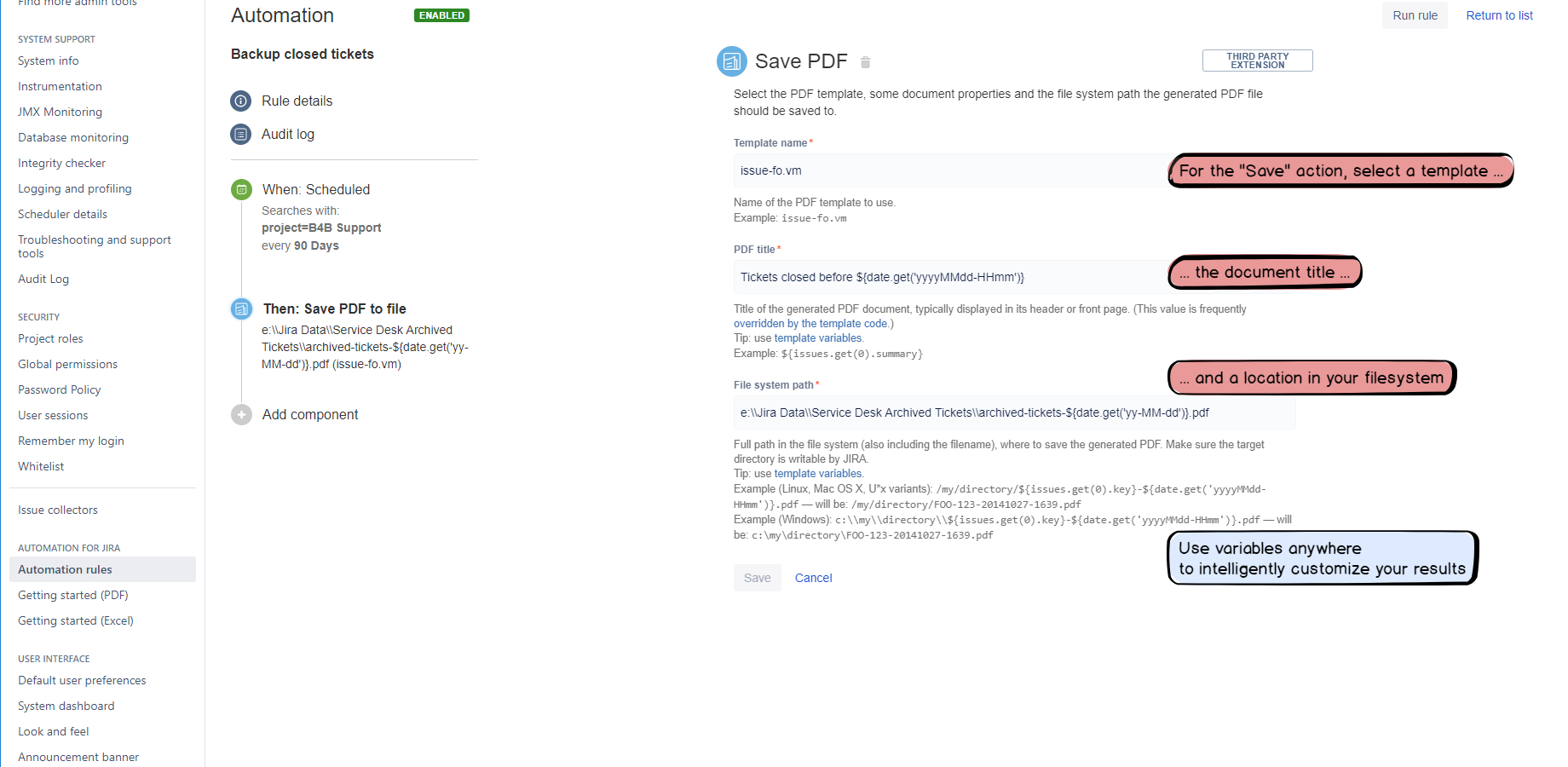 Spreadsheet Server User Guide For Better Pdf Automation For Jira  Atlassian Marketplace