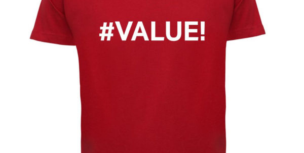 Spreadsheet Shirts Inside Value Mens T Shirt Error / Excel / Spreadsheet Design T Shirts