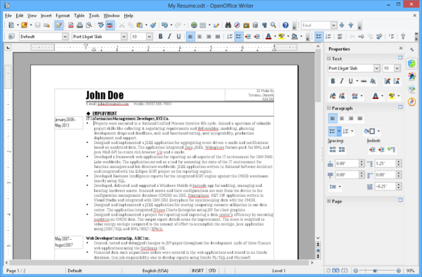 Spreadsheet Software Free Download For Windows 10 Inside Apache Openoffice Writer