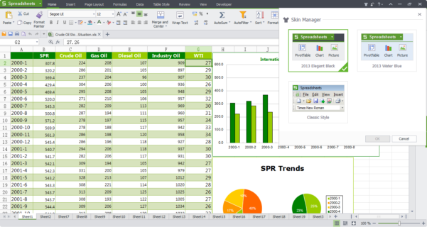 Spreadsheet Software Free Windows 10 Intended For Wps Office 10 Free Download, Free Office Software  Kingsoft Office