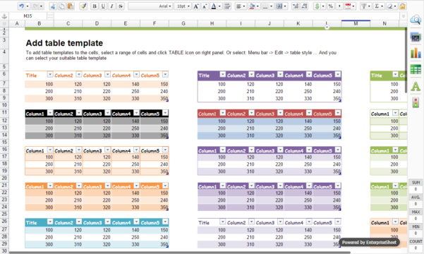 Spreadsheet Solutions Intended For Enterprise Online Spreadsheet Solution