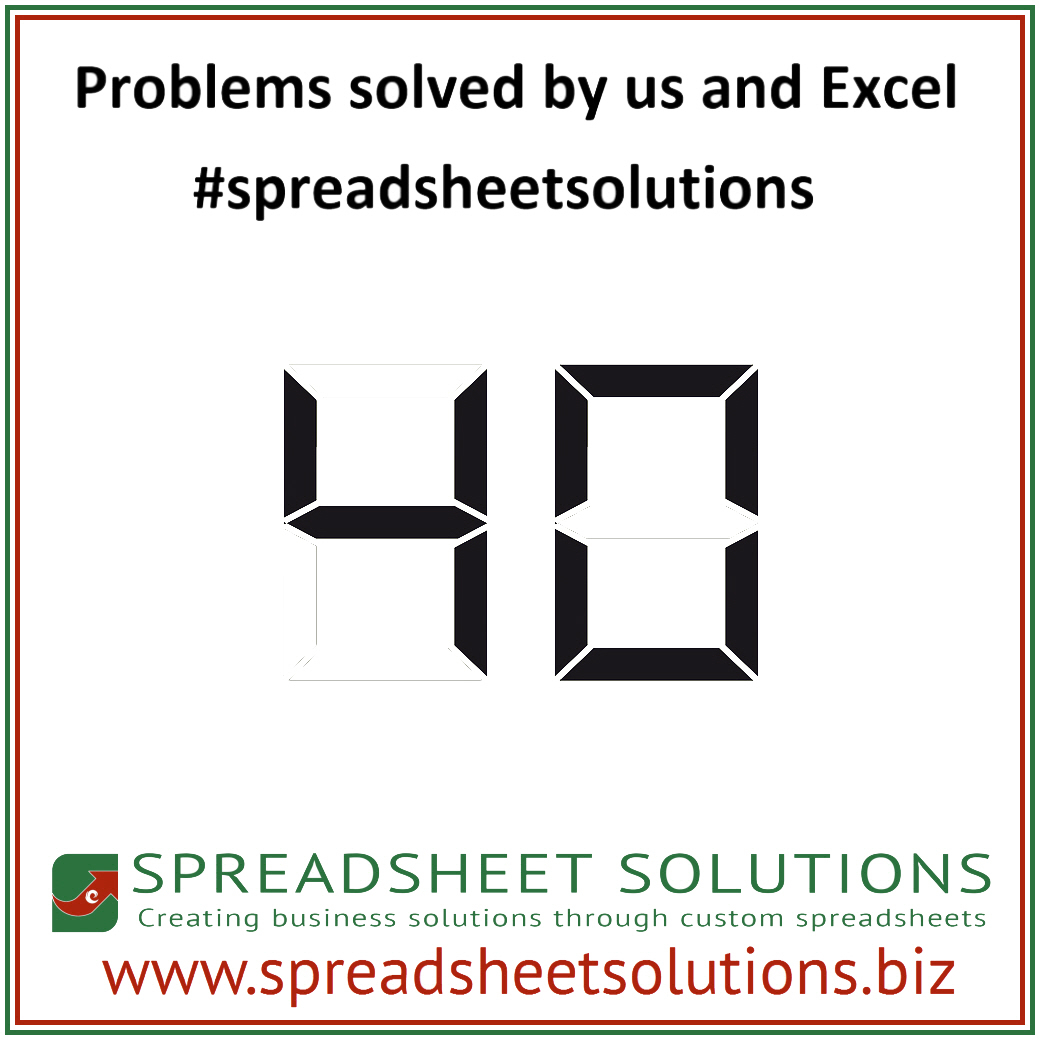 Spreadsheet Solutions With 40 Problems Solved  Spreadsheet Solutions