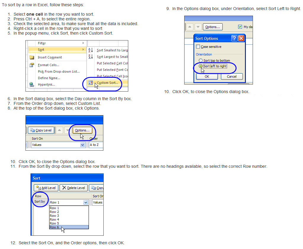 Spreadsheet Sort Pertaining To How To Sort An Excel Spreadsheet Columnsrow Contents?  Super User