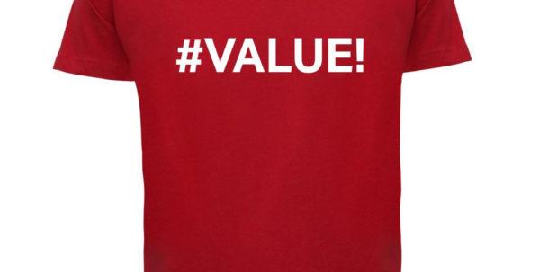Spreadsheet T Shirt Design For Value Mens T Shirt Error / Excel / Spreadsheet Design T Shirts