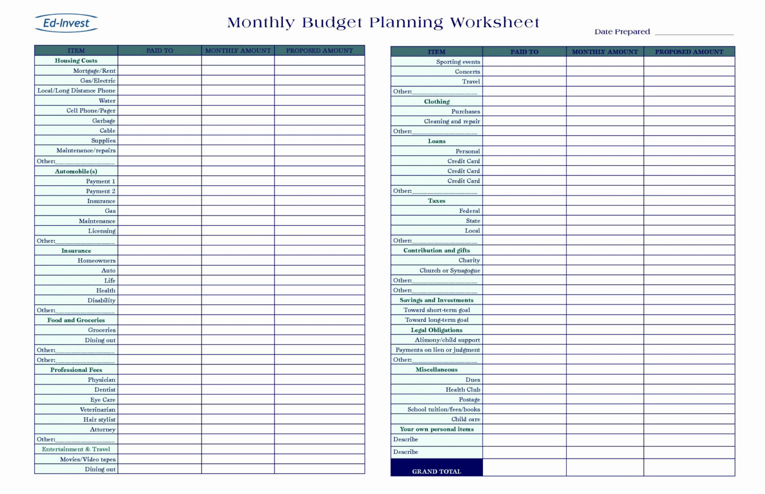 Spreadsheet Template Pdf Inside 011 Personal Financial Plan Template Excel Then Luxury Startup