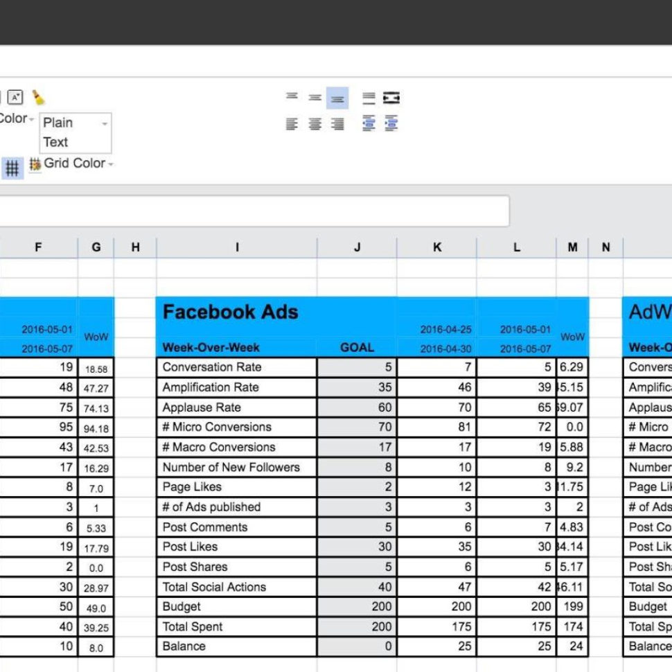 Spreadsheet Template Pdf With Regard To Social Media Strategy Template Pdf And Social Media Tracking