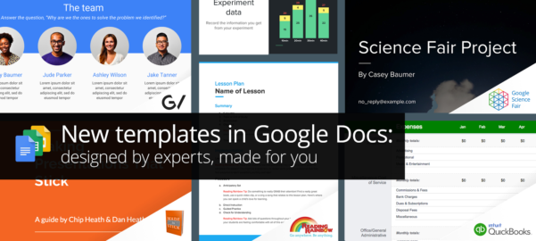 Spreadsheet Templates Google Docs Inside New Professionallydesigned Templates For Docs, Sheets,  Slides