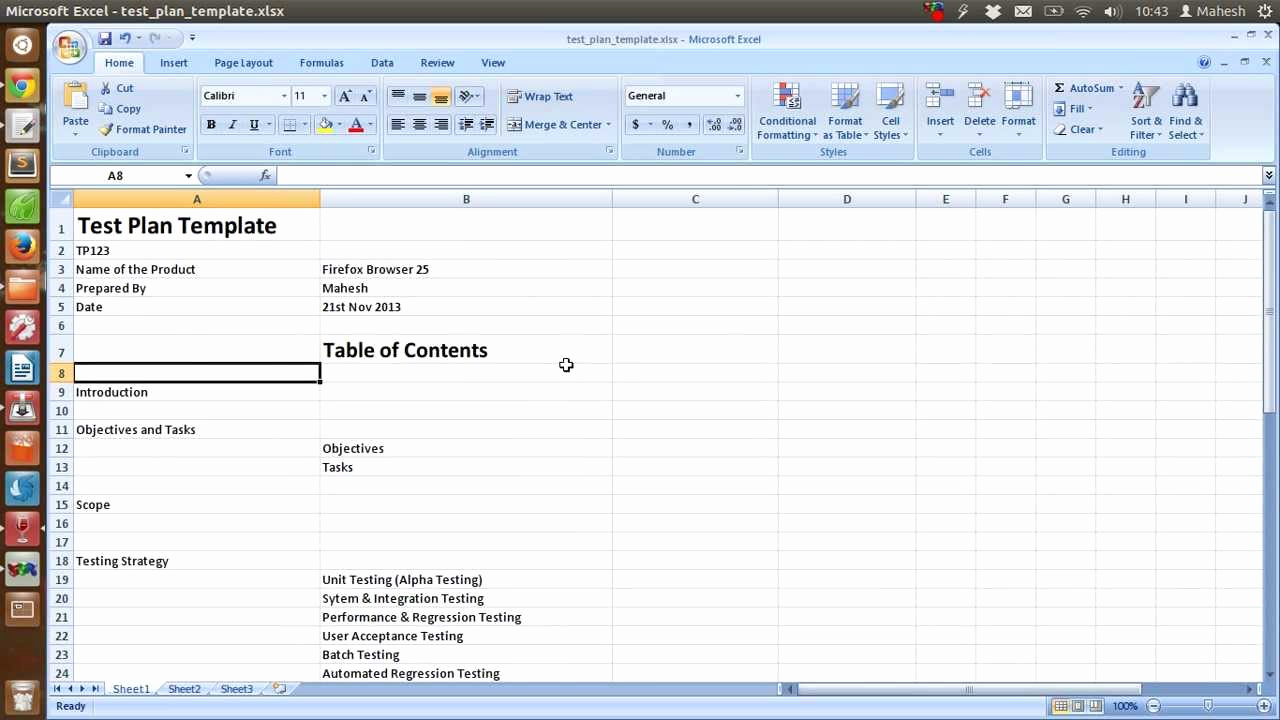 Spreadsheet Test Intended For Software Testing Spreadsheet Template Then Ieee Sample Test Plan