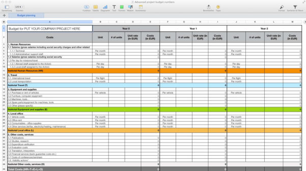 Spreadsheet Themes For Templates For Numbers Pro For Mac  Made For Use