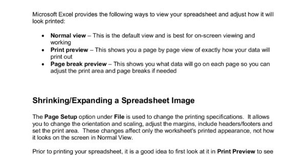 Spreadsheet Tips And Tricks Within Excel  Tips And Tricks For Printing An Excel Spreadsheet  Pages