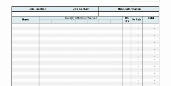 Spreadsheet To Calculate Hours Worked In Creating An Invoice For Hours Worked Excel Hours Worked Template