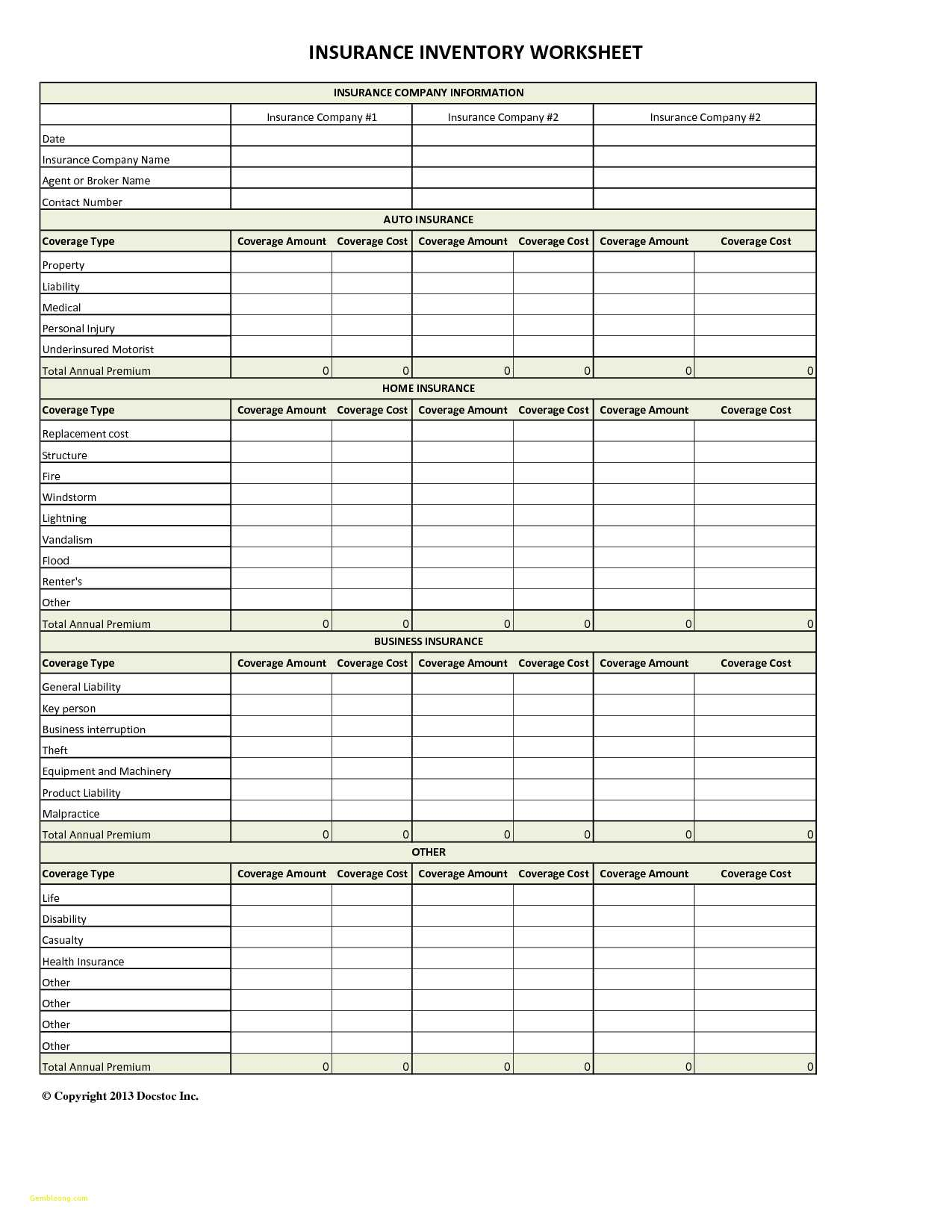 Spreadsheet To Compare Insurance Quotes Regarding Insurance Quote Comparison Spreadsheet  Awal Mula