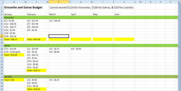 Spreadsheet To Keep Track Of Bills Inside How To Keep Track Of Your Monthly Expenses  My First Apartment