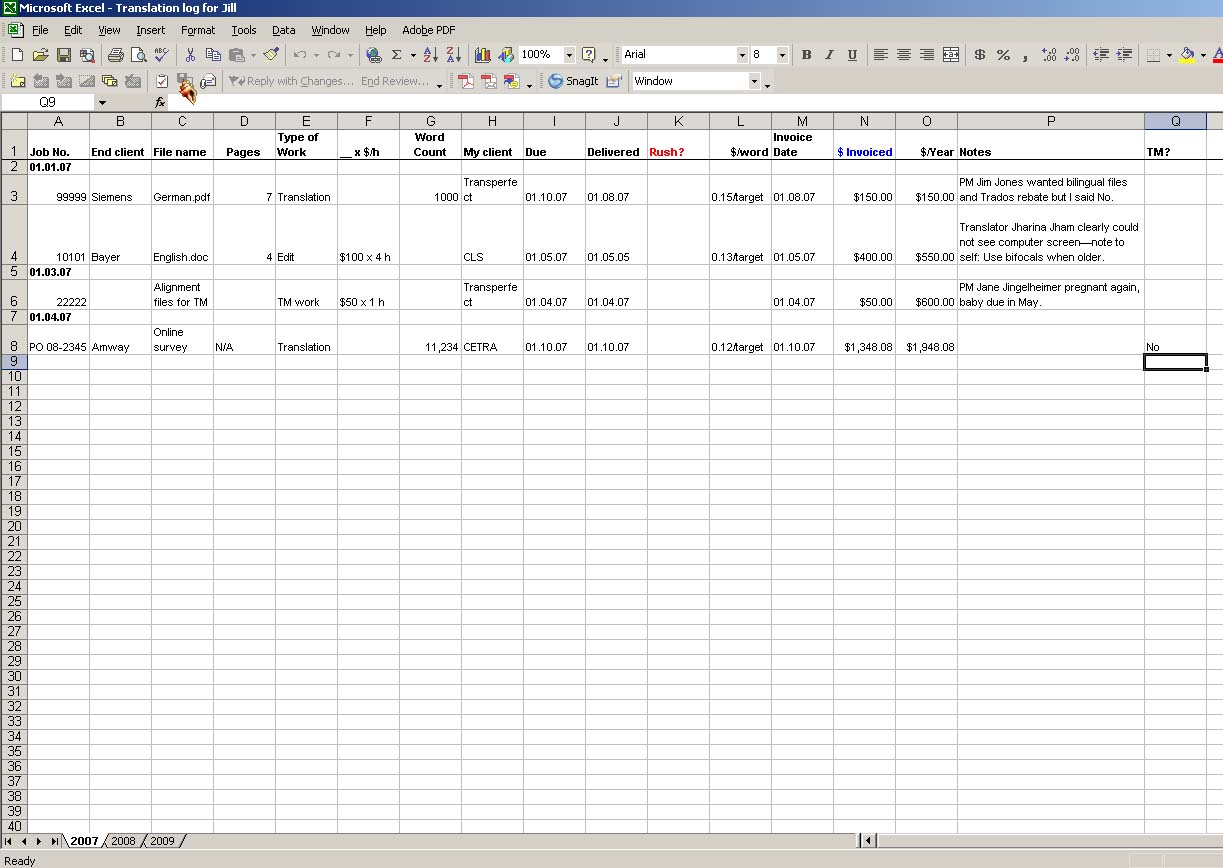 Spreadsheet To Keep Track Of Clients Pertaining To I Don't Need No Stinkin' Job Tracking System…  Musings From An