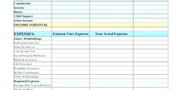Spreadsheet To Track Child Support Payments Throughout Template For Monthly Expenses This Monthly Budget Sheet Can Help You