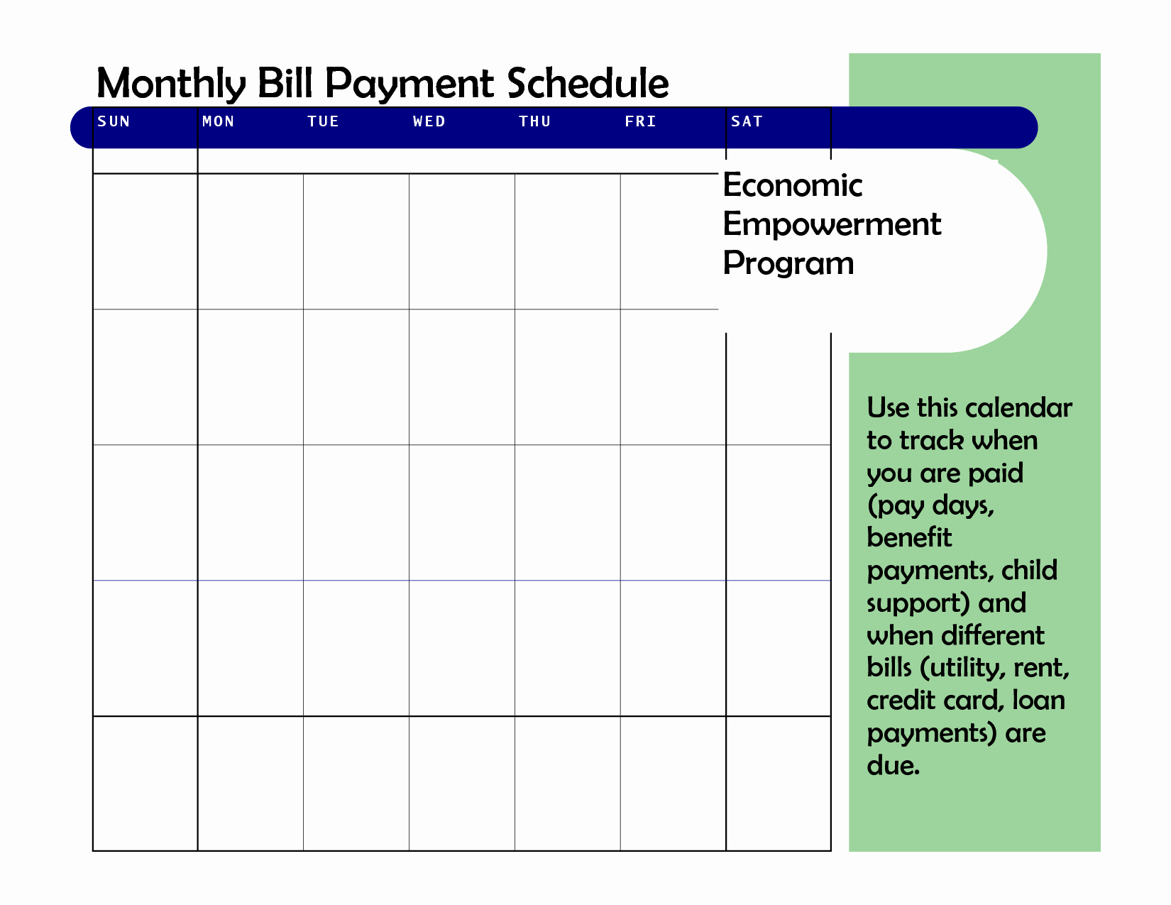 spreadsheet to track child support payments printable