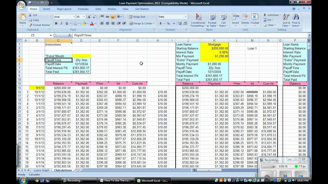 Spreadsheet To Track Loan Payments In Spreadsheet To Track Loan Payments Multiple Payment Optimization How