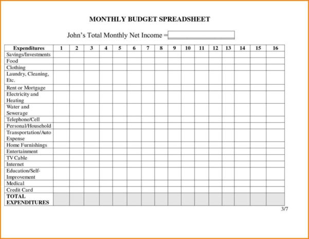 Spreadsheet To Track Monthly Expenses For Spreadsheet For Monthly Expenses Sample Excel Sheet Template