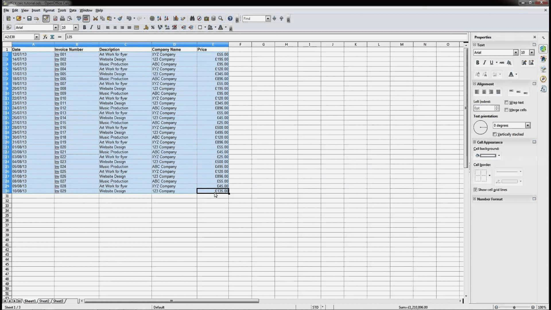 Spreadsheet Tutorial Within Open Fice 4 Calc Spreadsheet Beginners Tutorial Dcp Web Idées Of