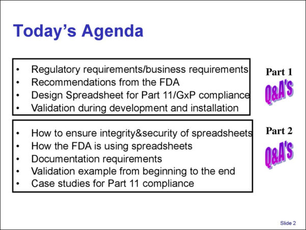 Spreadsheet Validation Fda In Validation And Use Of Exce Spreadsheets In Regulated Environments