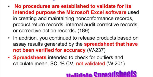 Spreadsheet Validation Fda Inside Spreadsheet Validation Fda  Aljererlotgd