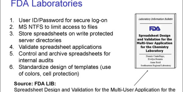 Spreadsheet Validation For Validation And Use Of Exce Spreadsheets In Regulated Environments