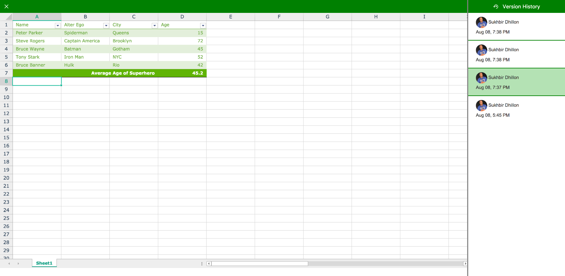 Spreadsheet Version Control Regarding Excellentable Spreadsheet For Confluence  Atlassian Marketplace