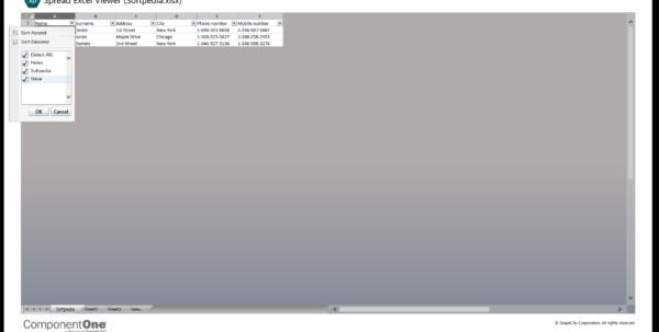 Spreadsheet Viewer Throughout Download Componentone Spreadsheet Viewer 1.0.0.25