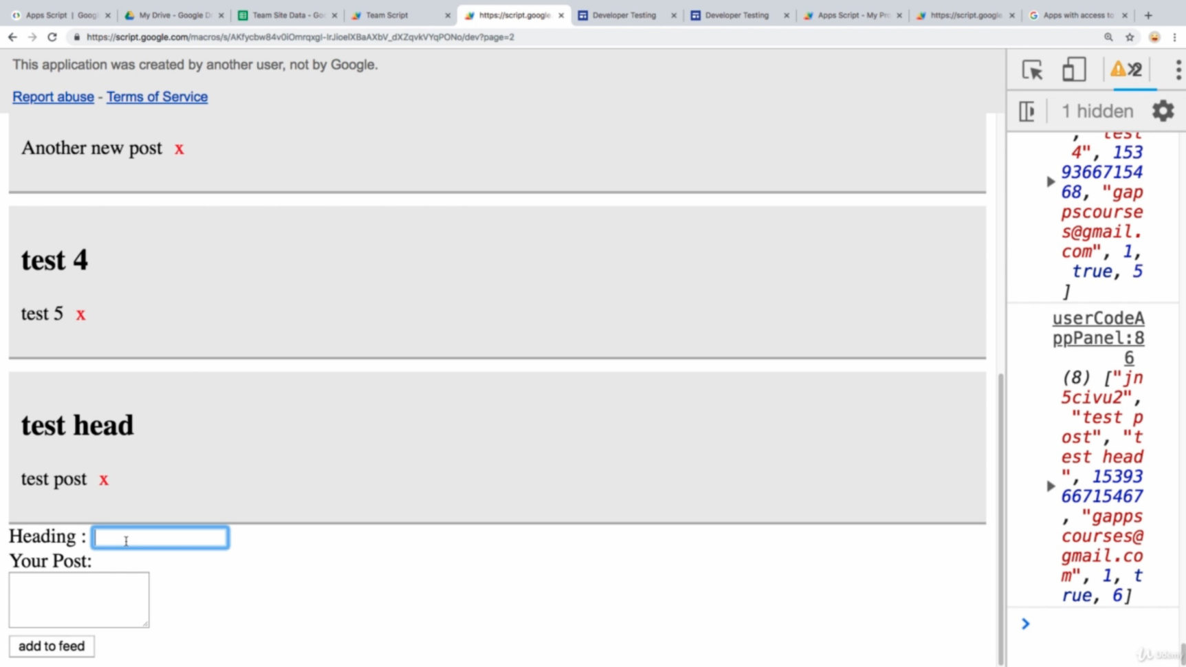 Spreadsheet Web Component Regarding Google Apps Script Google Site And Web Apps Spreadsheet  Udemy In
